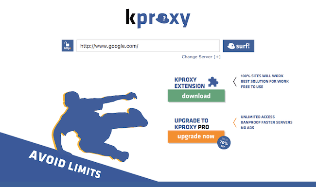 kproxy.com top 5 proxy sites list